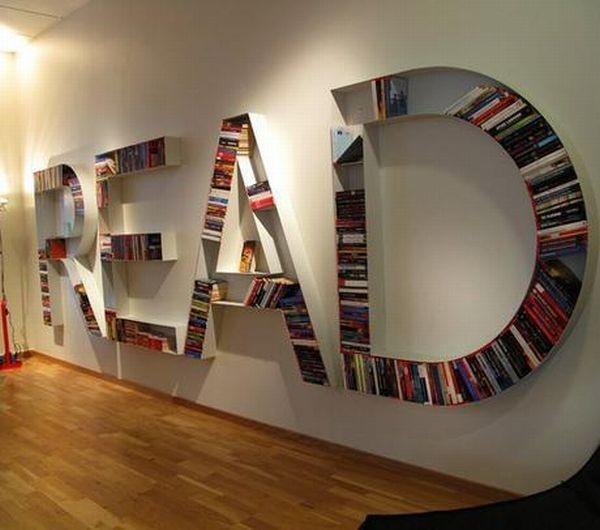 Необычные книжные полки. (30 фото)